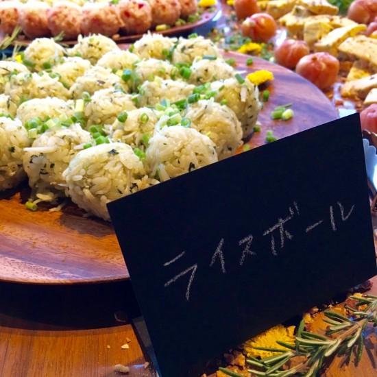 しらすと小松菜のライスボール
