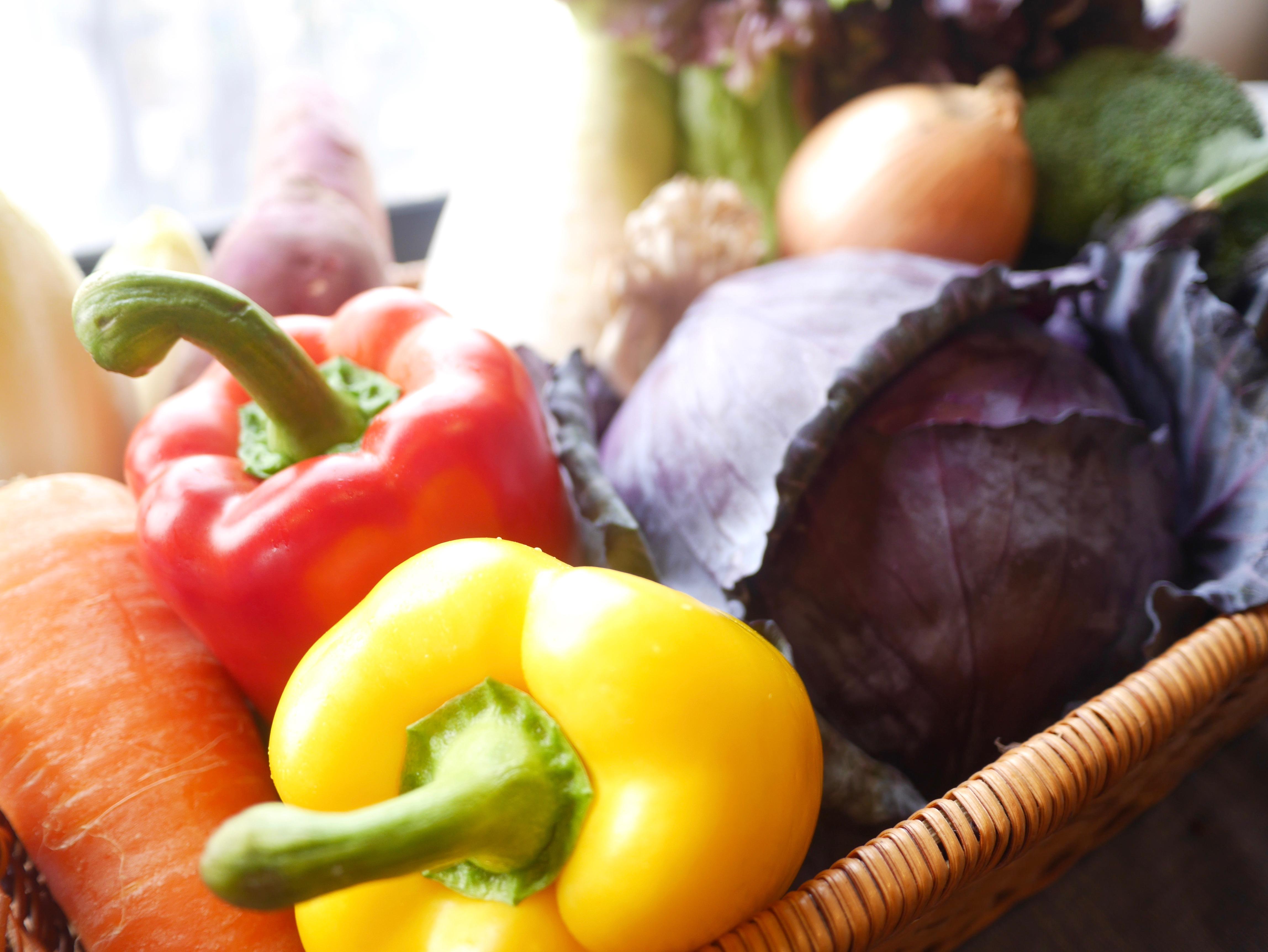 毎日届けられる新鮮な野菜