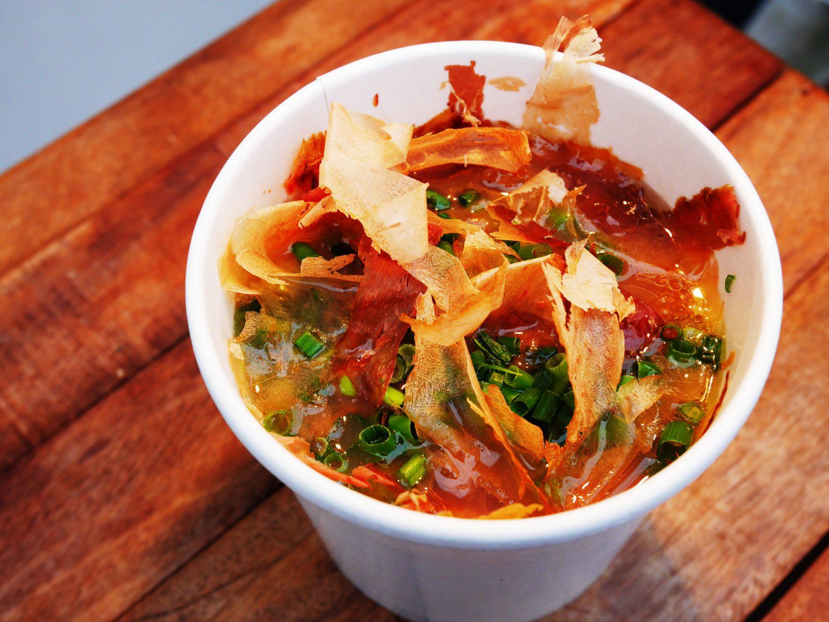 鶏とかつおのスープ