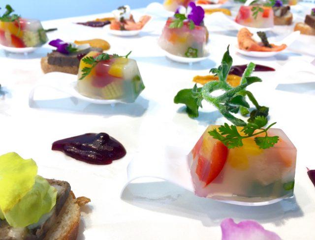 野菜のテリーヌ パンプキンマスタードソース