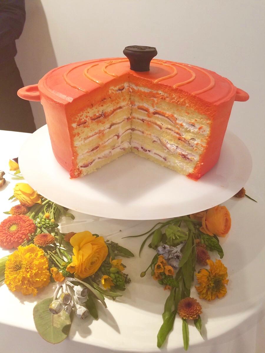 お鍋型ケーキ断面