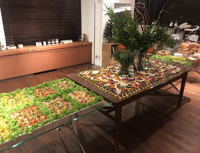 テーブル全体の様子