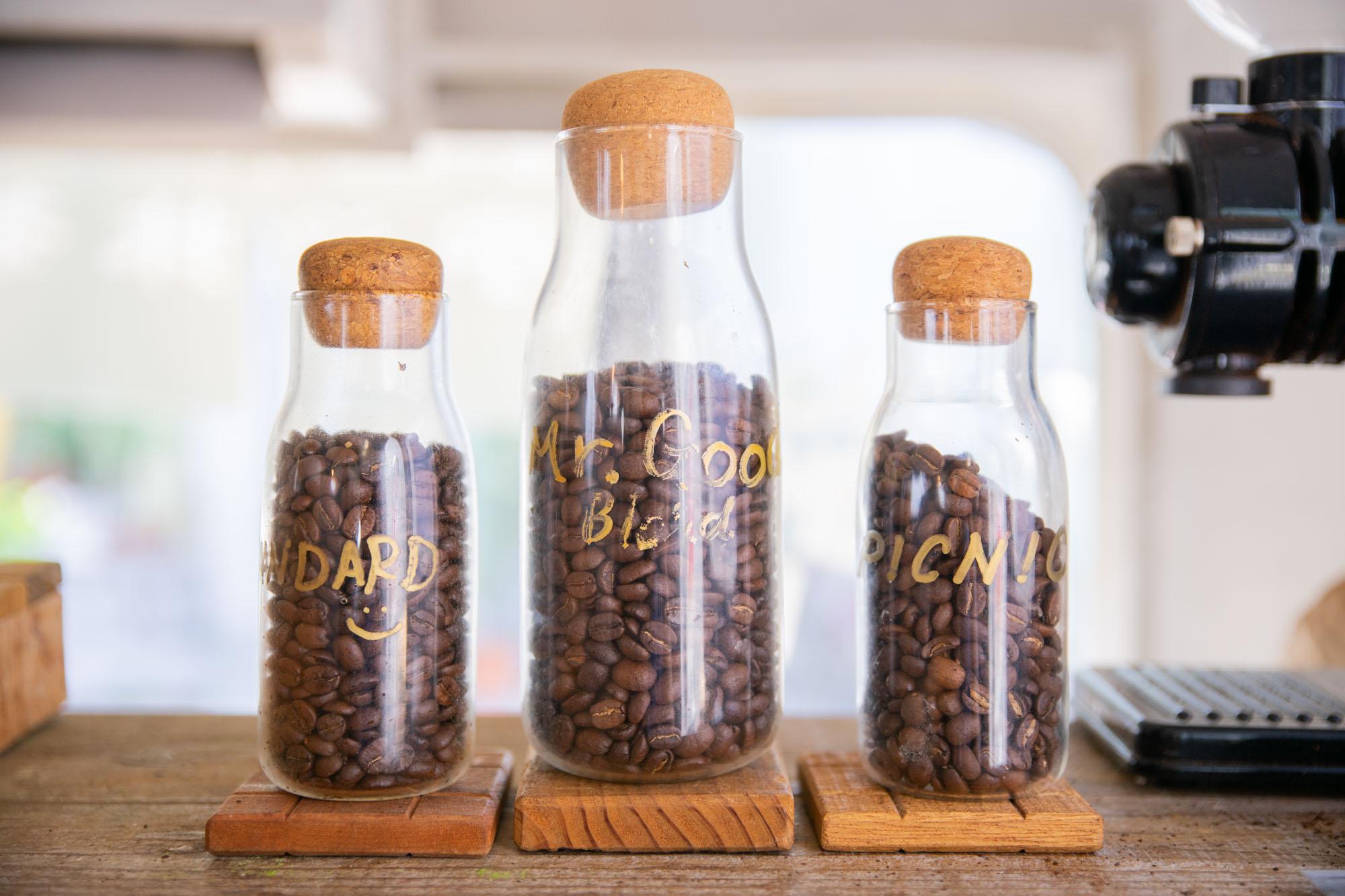 the AIRSTREAM GARDENで取り扱っている3種のコーヒー豆