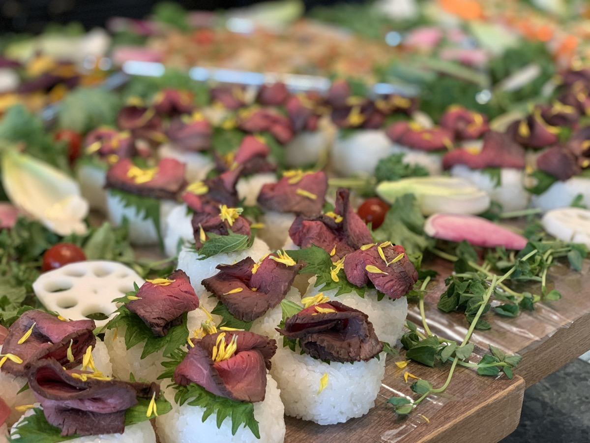 ローストビーフ手まり寿司